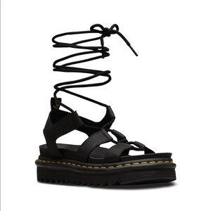 Dr. Martens lace up sandals NWB